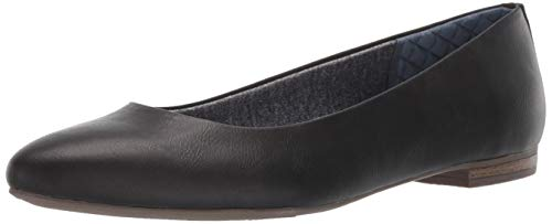 Dr. Scholl's Shoes Women's Aston Ballet Flat, Black Smooth, 7 M US