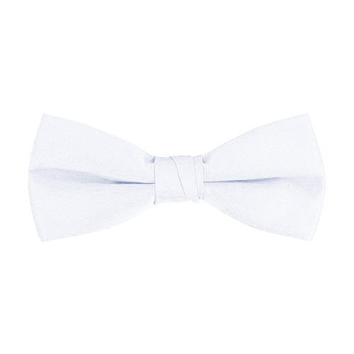 Men's Classic Pre-Tied Formal Tuxedo Bow Tie - White, By S.H Churchill - White Tuxedo Bow Tie