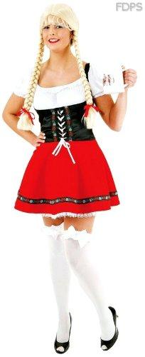 Disfraz Traje de Sexy Vestido Típico Alemán en Rojo y Negro-S ...