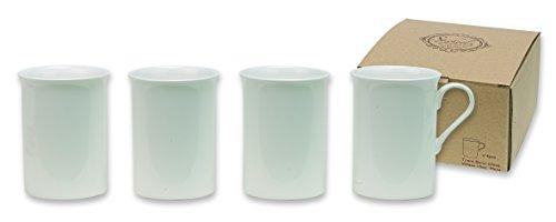 Heath McCabe Mugs Trent White Fine Bone China 4 Mug Gift Set