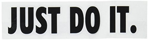 Nike Just Do It Logo Vinyl Sticker Decal-Black-4 (Nike Stickers)