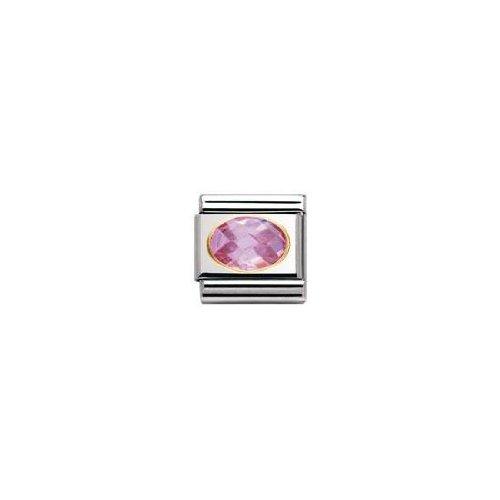 Nomination 030601 - Maillon pour bracelet composable Mixte - Acier inoxydable et Or jaune 18 cts