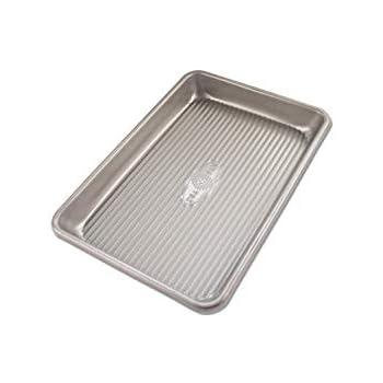 USA Pan 1043MS Bakeware Mini Sheet Warp Resistant Nonstick Baking Pan, Aluminized Steel