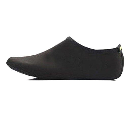 Womens Mens Barefoot Waterhuid Schoenen Aqua Sokken Voor Strand Zwemmen Surf Yoga Oefening Sport # 0014 Zwart