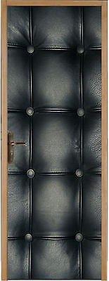 Stickersnews - Sticker pour porte Capitonné noir réf 314 (Taille au choix) Dimensions - 83x204cm