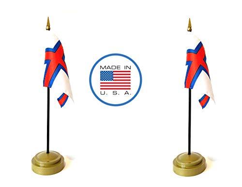 Made in The USA Flag Set. 2 Faroe Islands Rayon 4
