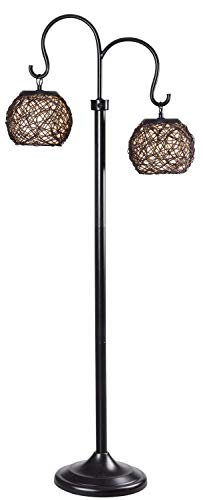 Outdoor Rattan Floor Lamp in US - 4