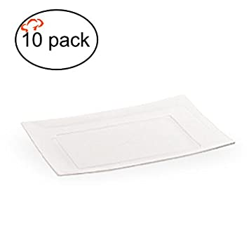 TigerChef TC-20292 Heavyweight Rectangular Plastic Plates Fancy Party Plates BPA-Free  sc 1 st  Amazon.com & Amazon.com: TigerChef TC-20292 Heavyweight Rectangular Plastic ...