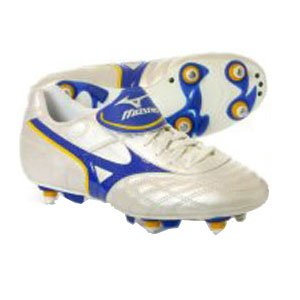 Mizuno objectivo si scarpe da calcio, colore: bianco, White, 10 UK