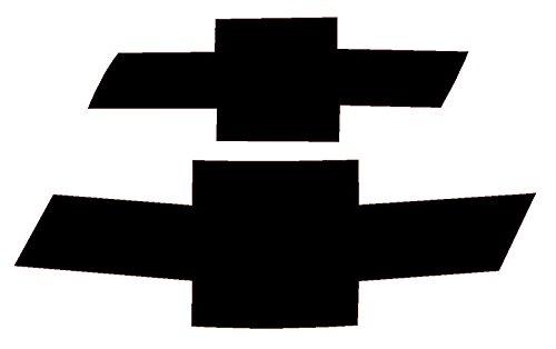 Front & Rear Bowtie Precut Vinyl Overlay for 2010-2013 Chevrolet Camaro Emblems (Gloss Black)