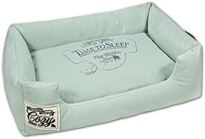 ペットベット 犬のケニル四季のリムーバブルと洗える中型の小さな犬のテディベッドペット用品 ベッド・ソファ SHANCL (Color : Green, Size : L:80*60*22cm)