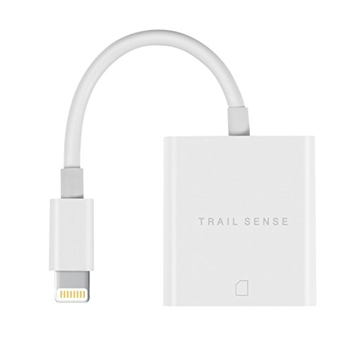 Trail Sense [ Upgraded ] SD Card Reader for iPhone and iPad. Lightning SD Card Reader. Trail and Game Camera Viewer. Faster Sharing. No App Required.