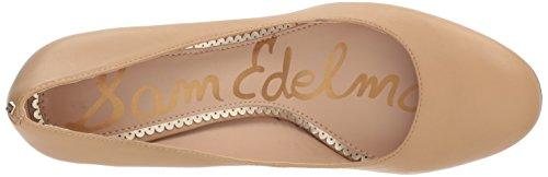 classic Edelman Scarpe Marrone Leather Con Donna Junie Sam Tacco Nude 10xwBx4