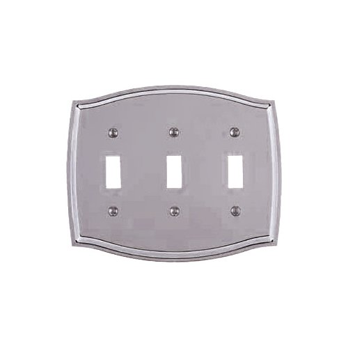 Baldwin 4780.260.CD Colonial Design Triple Toggle Switch Plate, Chrome