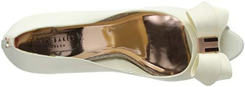 Ivory de Zapatos Ted Ivory Punta Abierta con para Baker Marfil tacón Mujer Vylett aqww7Ap