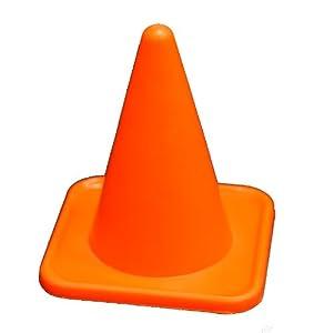 "Workoutz 4"" Inch Mini Orange Sports Cones (Set of 12) Agility Field"