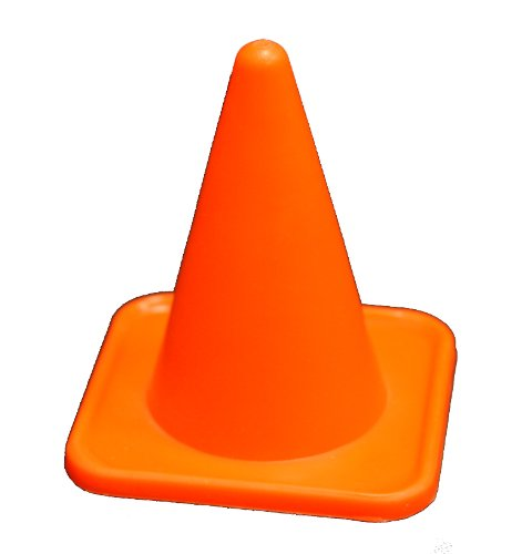 Workoutz 4'' Inch Mini Orange Sports Cones (Set of 12) Agility Field Markers Soccer Training by Workoutz