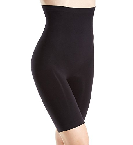 Body Wrap Women's Lites The Catwalk High-Waist Long Leg Panty, Black, Large (Body Wrap Lites)