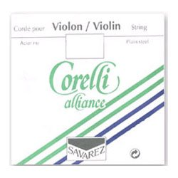 Best Synthetic Gut String (Corelli Alliance Vivace 4/4 Violin String Set Medium with loop E)