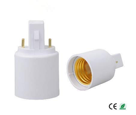 Halica (SPL-088-L9) 100pcs/lot 2 pins G23 to E27 lamp socket adapter G23 to E26 lamp holder adapter