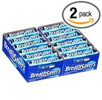 Breathsavers Peppermint Mints, 24-Count (2 Pack of 12)