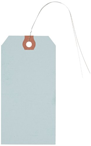 Aviditi G11053B Pre-Wired Shipping Blank Tag, 13 Point Cardstock, 4-3/4