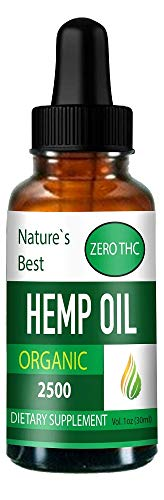 Hemp Oil for Pain Relief- 2500mg * Buy 2 get 1 Free!* Organic- Helps Stress, Anxiety, Sleep Problem - Rich in Fatty Acids - Natural Anti Inflammatory - 1 Fl Oz (30 ml).Results Guaranteed!!