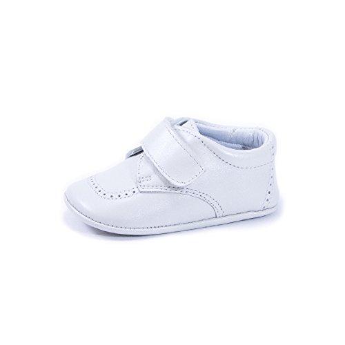 QKIS , Chaussures de ville à lacets pour garçon marron nacré - porcelaine