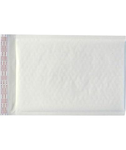 #000 Bubble Mailers (4 x 8) - White Kraft (500 Qty.) - 3 Kraft Bubble