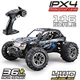 Fistone RC Truck 1/16 High Speed Racing Car , 24MPH 4WD Off-Road Waterproof Vehicle 2.4Ghz Radio Remote Control Monster…