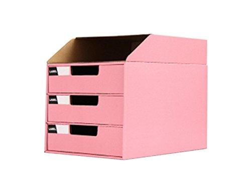 Fankeshi 2018 - Caja organizadora de cartón para archivar documentos, Rosado