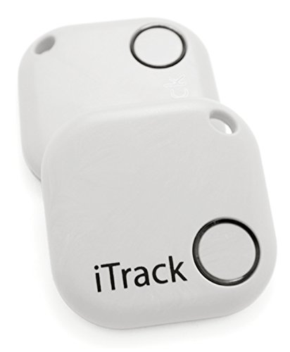 Key finder GPS Smartphone Bluetooth by iTrack Easy Anti-Lost Device to Track Items. Easy to Use - App & Green LED Alarm Device with Batteries. Also Remote Camera Controller.