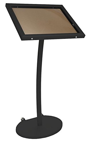 Displays2go Menu Display Stand, Cork Board, Waterproof, UV Inhibitor Lens, Wheels, Black (ODCRK598BK) by Displays2go (Image #6)