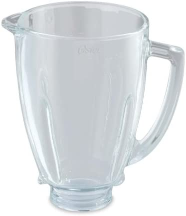 Oster BLSTAJ-G00-050 - Jarra de vidrio redonda 6 tazas (1.5 l ...