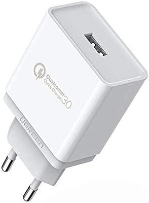 UGREEN Cargador Rápido QC 3.0 18W Quick Charge Qualcomm Certificado para Samsung S9 Plus S8 Plus S8 Note 8, Xiaomi Mi A2 Mi A1 Mi 8 Redmi Note 5 Redmi ...
