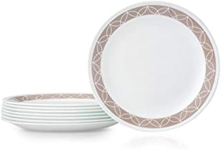 product image for Corelle Chip Resistant Lunch Plate, 8 Pieces, Sand Sketch