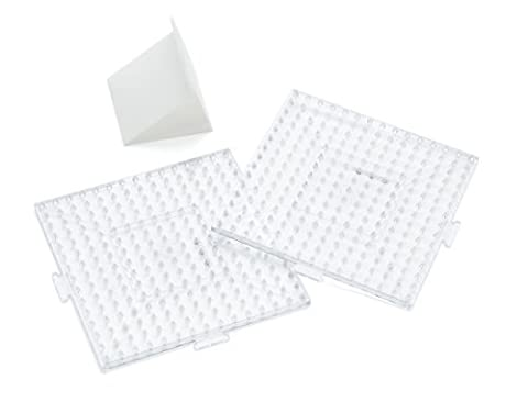 Perler Beads Clear Large Square Biggie Bead Pegboard 2 Pack by Perler