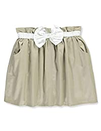 Cherokee Little Girls' Twill Scooter Skirt with Bow