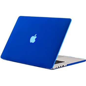 "Kuzy - Rubberized Hard Case for Older MacBook Pro 15.4"" with Retina Display A1398 15-Inch Plastic Shell Cover - BLUE"