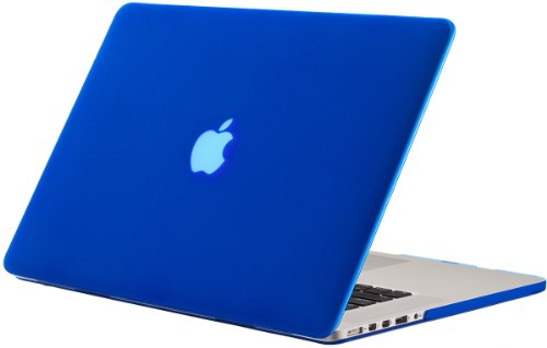 Kuzy - Older MacBook Pro 15.4 inch Case Model A1398 with Retina Display Soft Touch 15 inch Plastic Hard Shell Cover - Blue