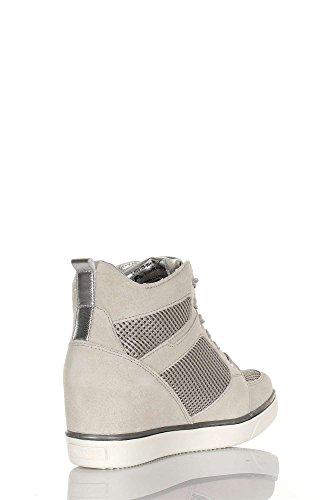 Lumberjack SW05105-004 N55 Sneakers Mujer LT GREY/SILVER