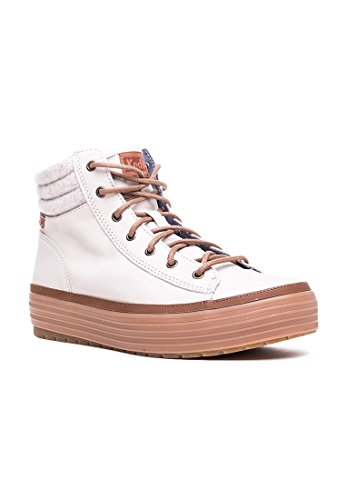 Keds High Rise Leather Wool Beige Beige 36
