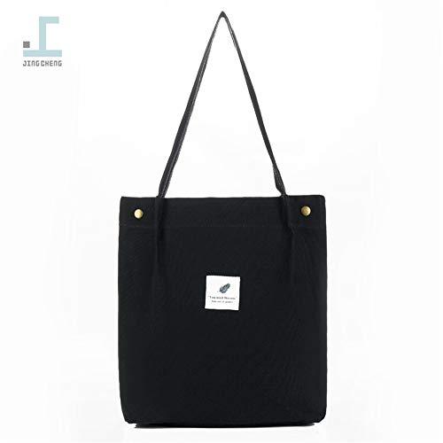 bolsa del sencillo hombro negro literaria nuevo Sur bolsa tela Corea bolsa compras de estudiante Japón LANDONA portátil una de femenino y de en nueva txqp7qZw