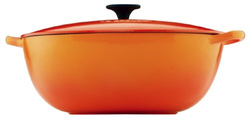 Le Creuset Enameled Cast-Iron 7-1/2-Quart Bouillabaisse Pot, Flame by Le Creuset