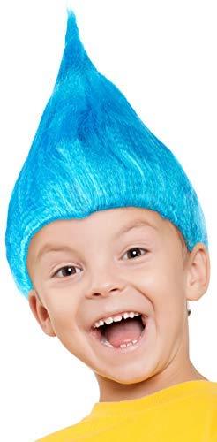 Balinco Troll Peluca para Niños Niñas & Niños en Rosado, Turquesa y Verde como Complemento para la Trolls Traje On Carnaval y Carnaval - Fucsia