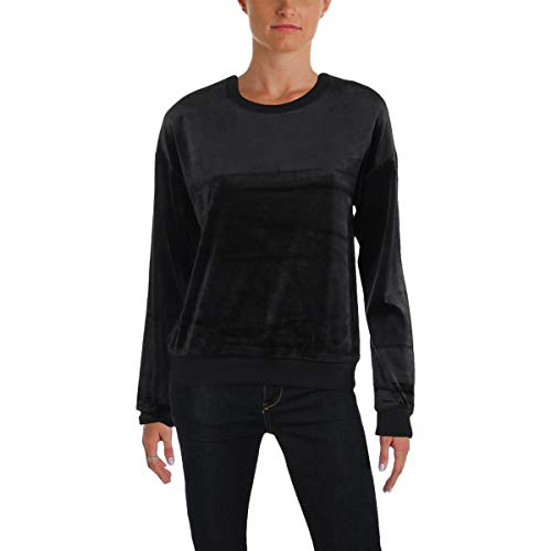 - Juicy Couture Black Label Women's Lightweight Velour Paradise Cove Pullover, Pitch, S