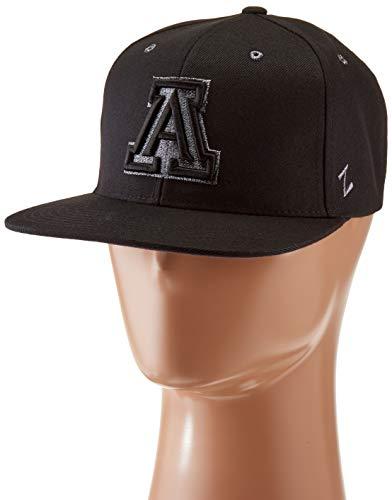 ZHATS NCAA Arizona Wildcats Men's Z11 Ebony Snapback Cap, Adjustable, Black