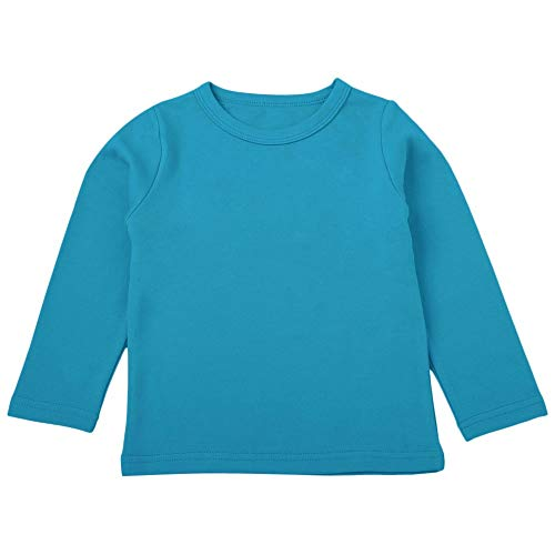 Sunhusing Children Girls Boys Cartoon Solid Color Long Sleeve T-Shirt Tops Tee Kids Baby Casual Shirts Clothes