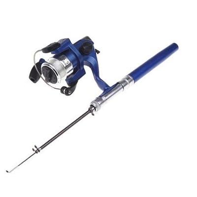 Docooler® Mini Aluminum Pocket Pen Fishing Rod Pole + Reel