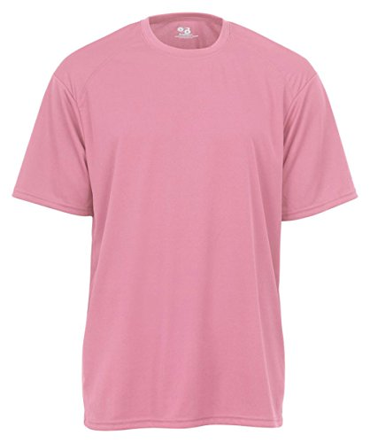 Badger Adult B-Core Short-Sleeve Performance Tee (Pink) (Large)